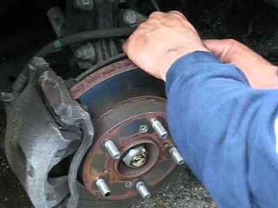 Brake discs being inspected